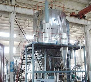 卧式喷雾干燥机的造粒塔柱采用钢管结构和钢管混凝土结构